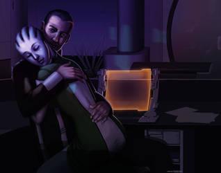 Mass Effect: Shepard x Liara by ghostfire