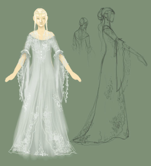 fantasy wedding dress by ghostfire on DeviantArt