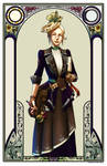 The Steampunk Artist - Framed