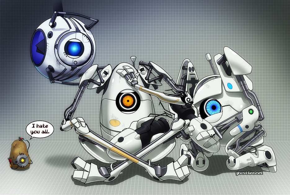 Portal 2: BOTS by ghostfire