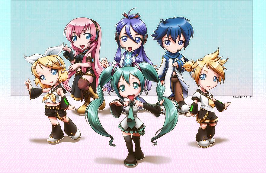 Vocaloid Chibi Group Wallpaper Vocaloid Chibi Group b...