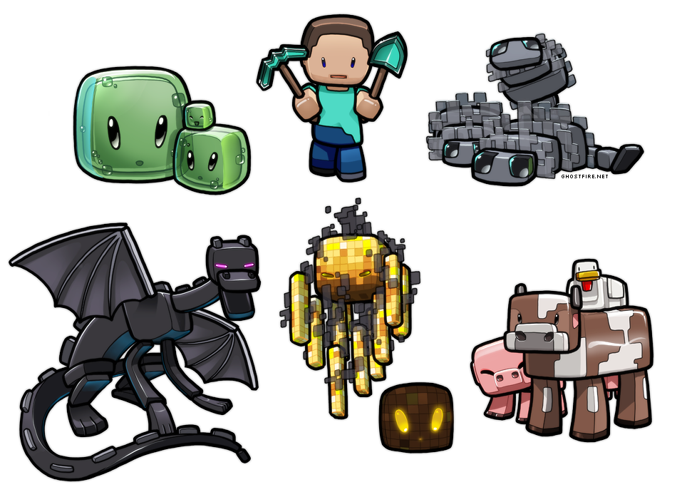 Lil' Minecraft Monsters 2 by ghostfire