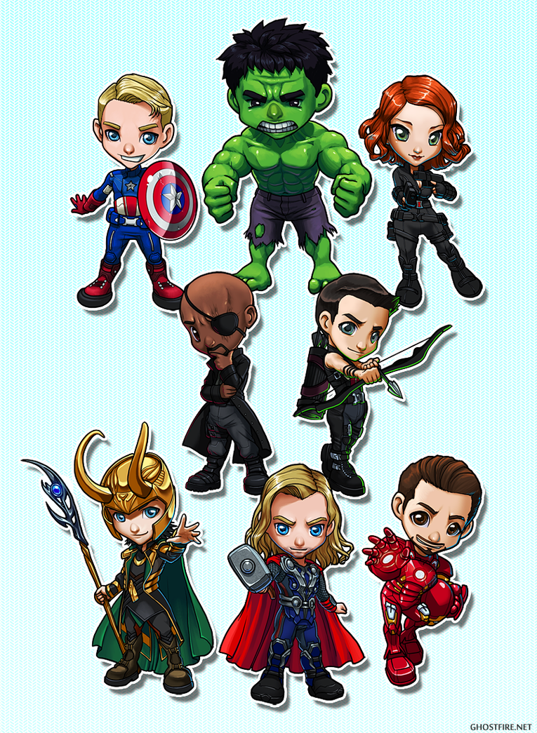Fotos, videos y otras chorraditas ^^ Avengers_chibi_group_by_ghostfire-d5kgzzy
