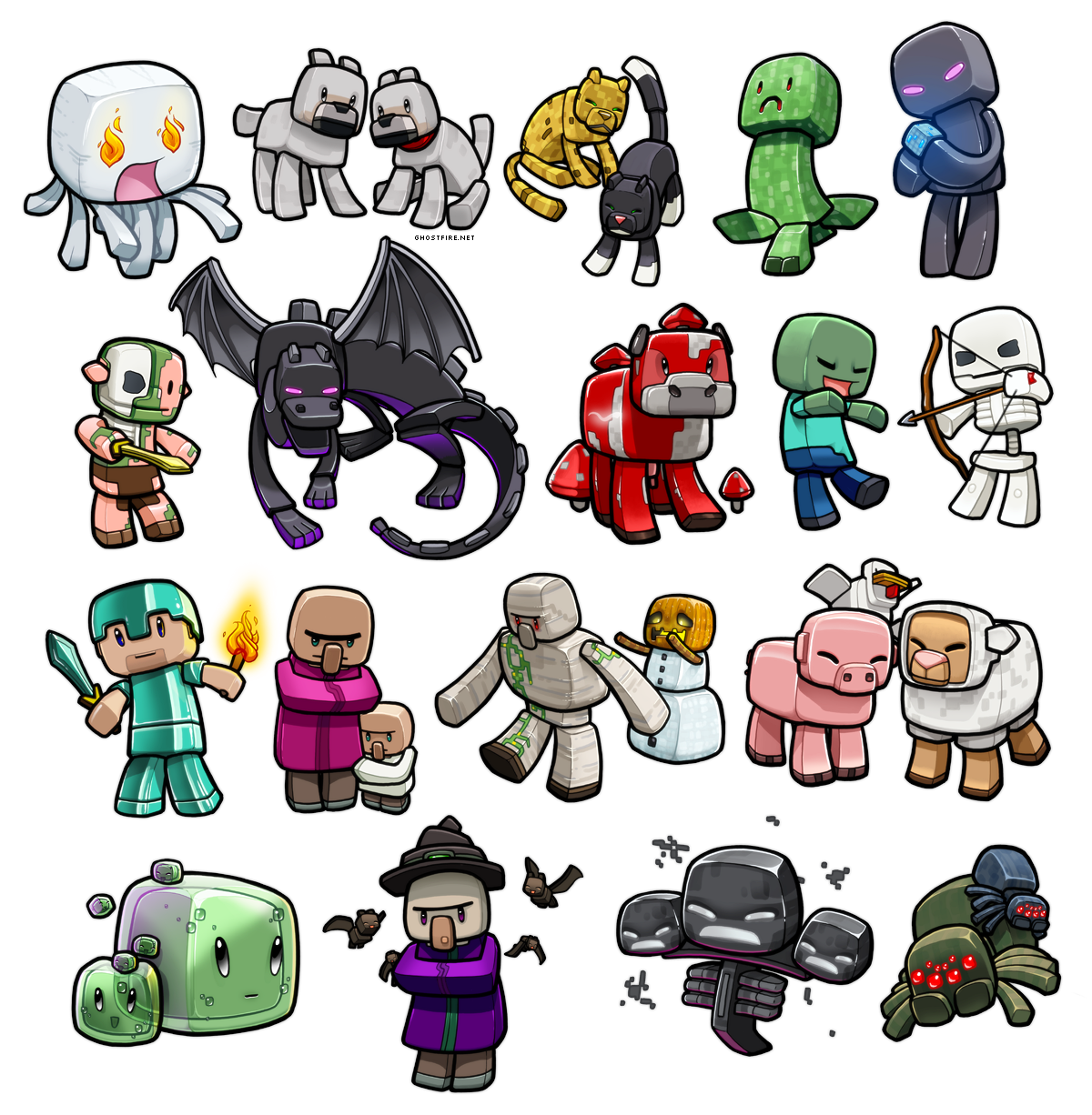 Lil minecraft monsters reboot by ghostfire