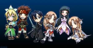 Sword Art Online Chibi Group
