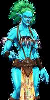 Commission: WoW Female Troll Druid