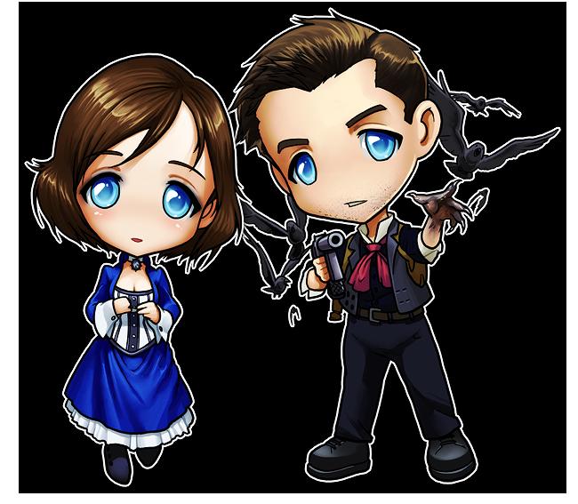 Bioshock Infinite Elizabeth And Booker Fan Art