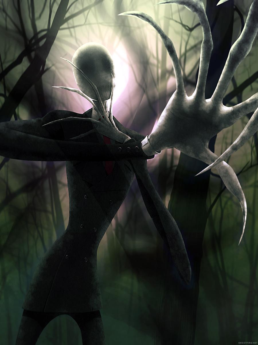 Him (the Slender Man) by ghostfire