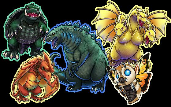 Classic Kaiju - Godzilla and Frienemies