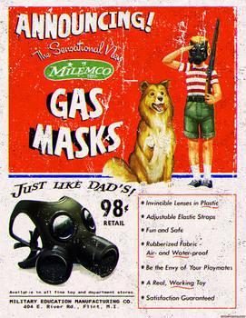 Atomic Ads - MILEMCO Gas Masks