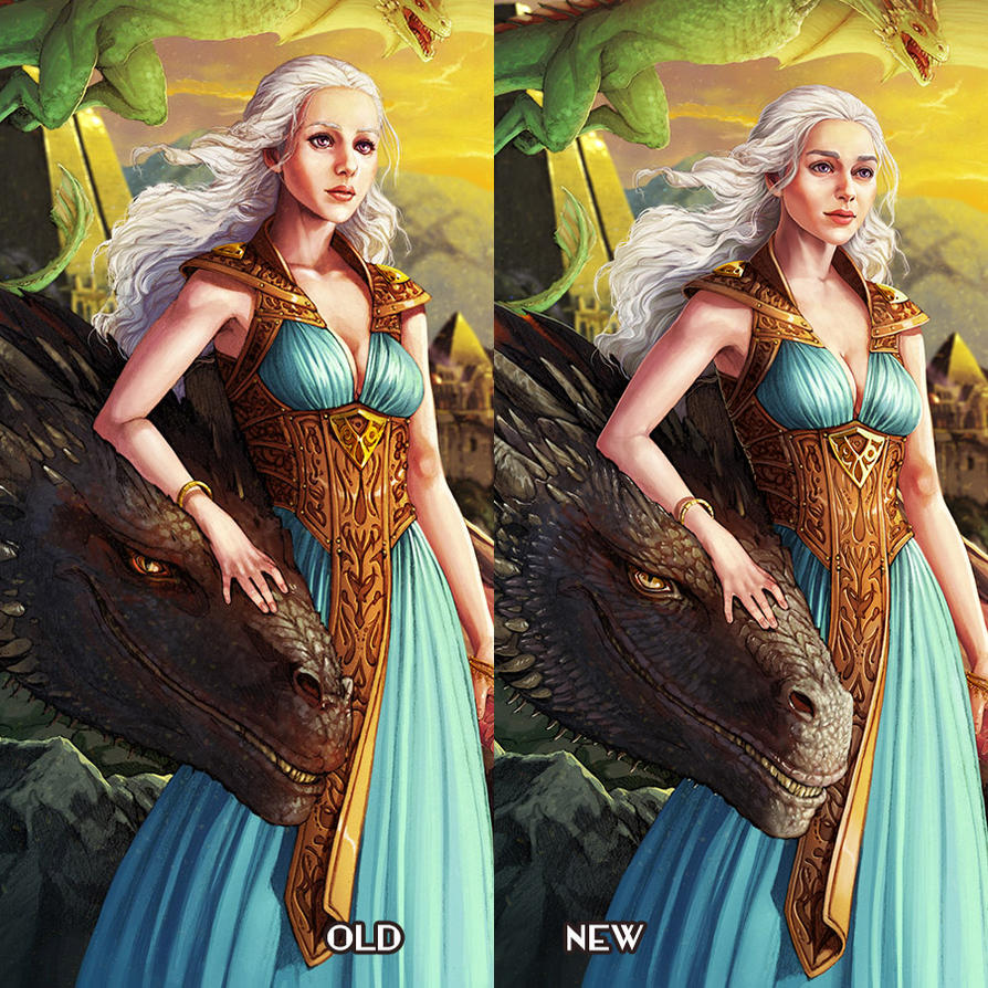 Mother of Dragons - Old vs New by ghostfire