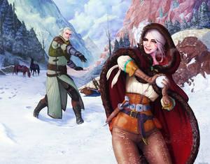 Witcher - Geralt and Ciri - Midwinter Celebration