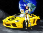 To the Moon! (Garlicoin + Dogecoin + Moon Lambo)