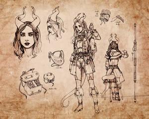 Tiefling Warlock Character Sheet