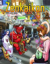 Zenkaikon 2018 Cover - Yokai by ghostfire