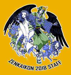 Zenkaikon 2018 Staff Shirt - The Group's All Here by ghostfire