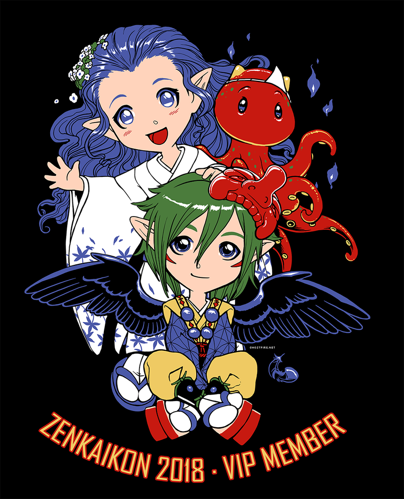 Zenkaikon 2018 VIP Shirt - Hello! by ghostfire