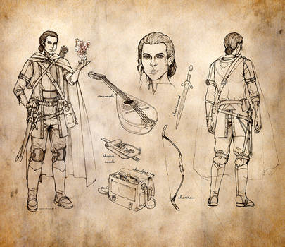 Half-Elf Bard Character Sheet