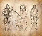 Half-Elf Bard Character Sheet