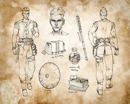 Air Genasi Barbarian Character Sheet by ghostfire
