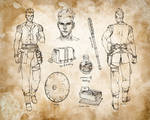 Air Genasi Barbarian Character Sheet