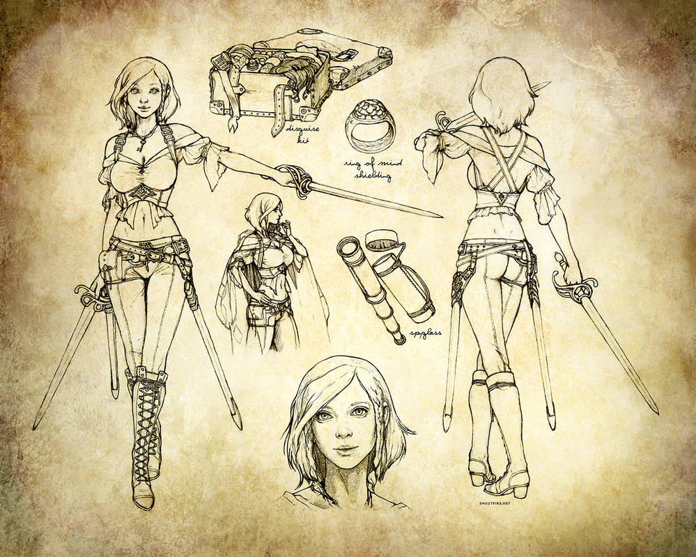 Aasimar Swashbuckler Rogue Character Sheet by ghostfire on