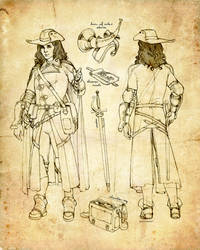 Half-Elf Bard Character Sheet (Level 4) by ghostfire