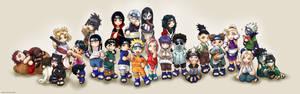 Naruto Chibis Group