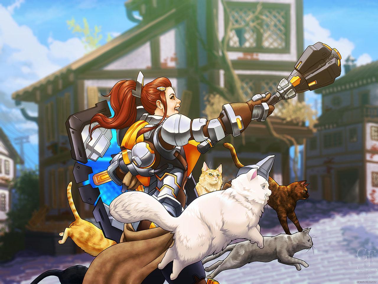 Brigitte - Overwatch - Here comes the Cat-valry!