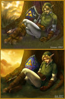 Sleepy Link - Comparison by ghostfire