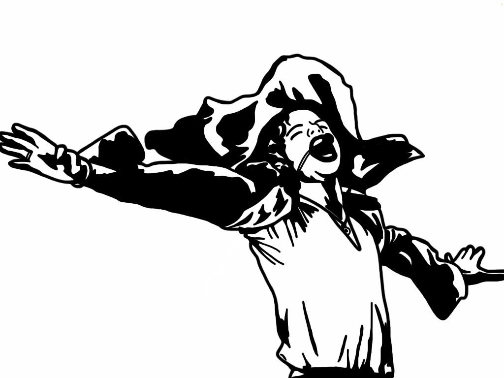 Super Saiyan Cosplays Michael Jackson coloring page   Free ...   768x1024