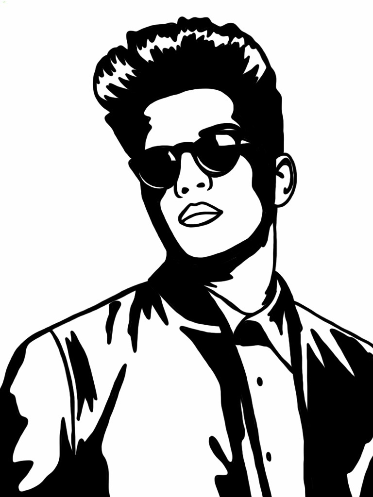 bruno mars coloring pages | Bruno Mars - Free Colouring Pages