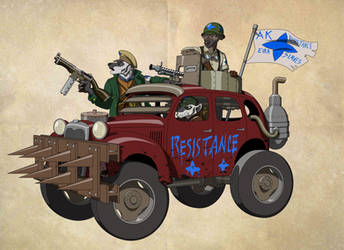 Allied Kingdom - Resistance Scout Car Concept by Theakker5