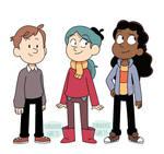 Hilda, David and Frida as teens
