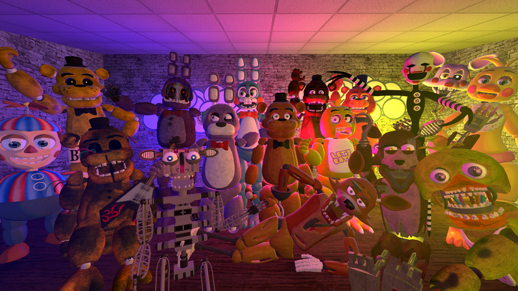 All fnaf 1 and 2 characters animated pics and names myideasbedroom