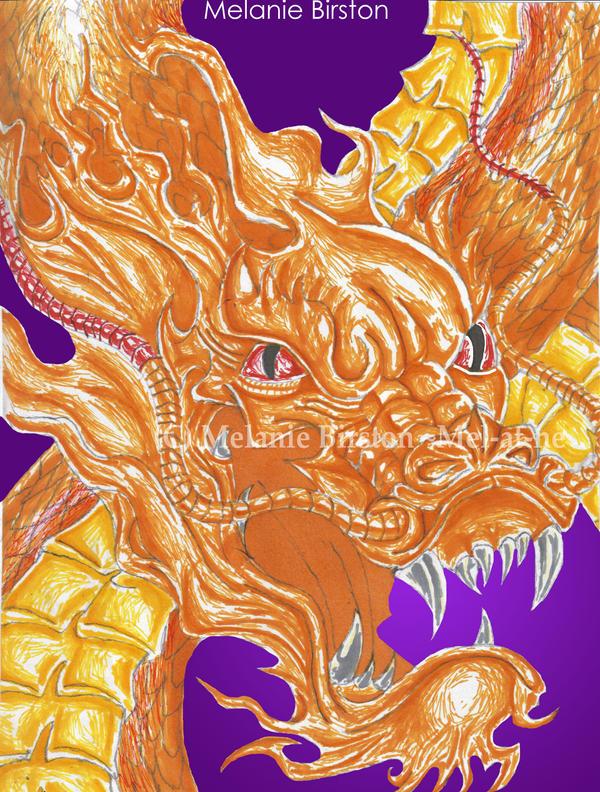 Dragon in prisma colors by Mel-at-ne