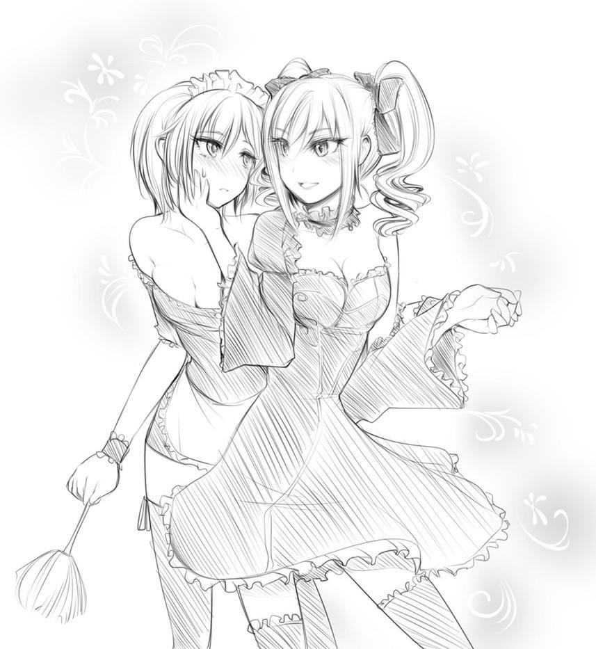 Request : Kanzaki x Anastasia Idolmaster Cinderell by Yuriwhale