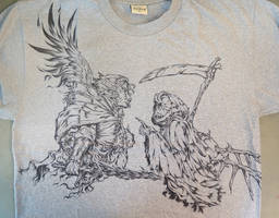 Archangel and Devil on T-shirt
