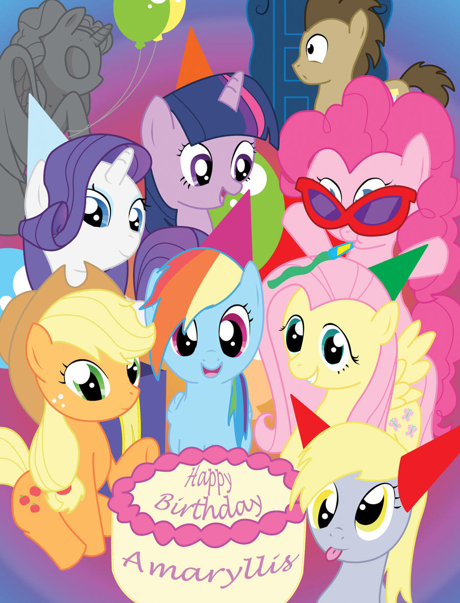 my little pony birthday wallpaper - photo #9