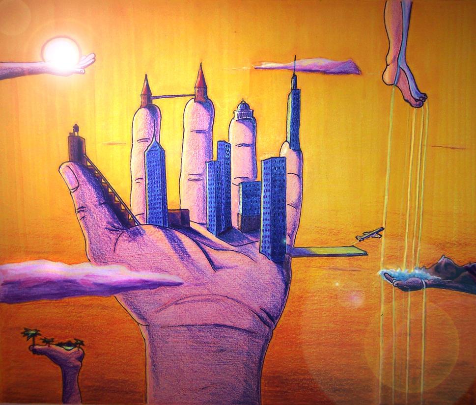 Surreal Hand 2 by Mason44
