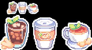 [C] Pixel Ginger Drinks