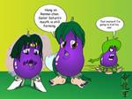 Comm - Anime Eggplants Colored