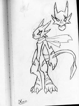 Anthro Dragon - Xen