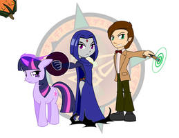 Titan, Pony and Time Lord by Dragon-FangX