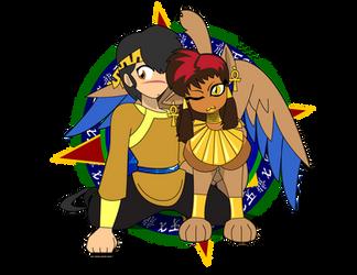 Sphinx Cuddle by Dragon-FangX