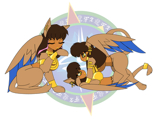 Akila, Anat and Ramla by Dragon-FangX