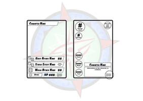 Cards - Proto-type Character Card Designs by Dragon-FangX