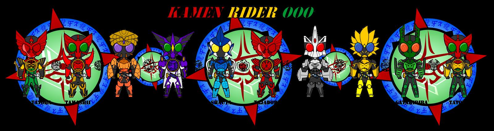 Kamen Rider OOO - All Main Combos