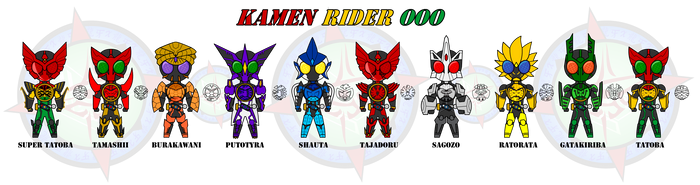 Kamen Rider OOO - All Main Combos by Dragon-FangX