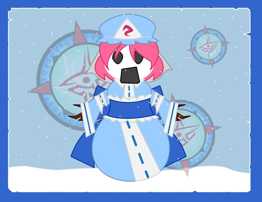 Snowpeople - Yuyuko by Dragon-FangX